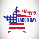 Composite image of happy labor day text and star shape American flag Stock Photos