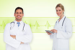 Composite image of happy medical team Royalty Free Stock Photos