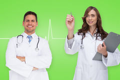 Composite image of happy medical team Royalty Free Stock Image