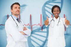 Composite image of happy medical team Stock Image