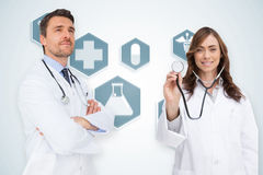 Composite image of happy medical team Stock Images