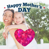 Composite image of happy mothers day Royalty Free Stock Photos