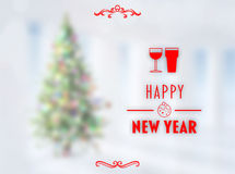 Composite image of happy new year banner Royalty Free Stock Photos