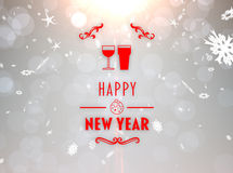 Composite image of happy new year banner Royalty Free Stock Image