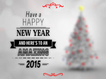 Composite image of happy new year message Stock Photography