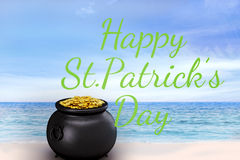 Composite image of happy st patricks day Royalty Free Stock Image