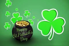 Composite image of happy st patricks day vector illustration