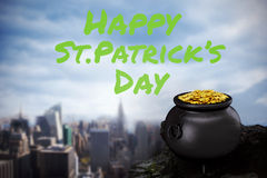 Composite image of happy st patricks day Royalty Free Stock Photo