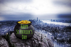 Composite image of happy st patricks day Royalty Free Stock Photography