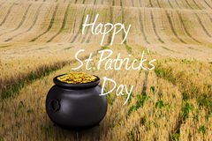 Composite image of happy st patricks day Stock Photos