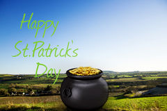 Composite image of happy st patricks day Stock Image