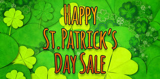 Composite image of happy st patricks day sale Royalty Free Stock Photography