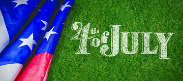 Composite image of happy 4th of july text on white background Stock Images