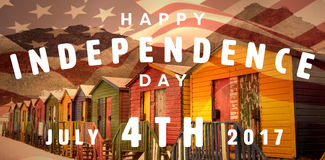 Composite image of happy 4th of july text on white background Royalty Free Stock Images