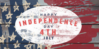 Composite image of happy 4th of july text on white background. Happy 4th of july text on white background against wood vector illustration