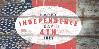 Composite image of happy 4th of july text on white background Royalty Free Stock Image