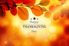 Composite image of happy thanksgiving royalty free illustration