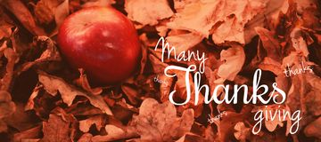 Composite image of happy thanksgiving day message Stock Images