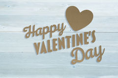Composite image of happy valentines day Stock Images