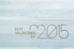 Composite image of happy valentines day Royalty Free Stock Images