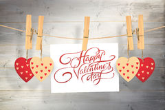 Composite image of happy valentines day Royalty Free Stock Photography