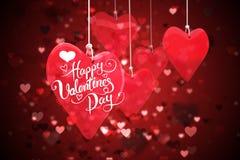 Composite image of happy valentines day. Happy valentines day against valentines heart design stock illustration