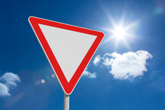 Composite image of hazard triangle Stock Images