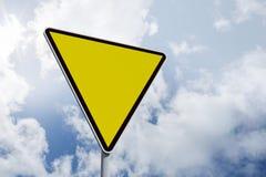 Composite image of hazard triangle Stock Photos