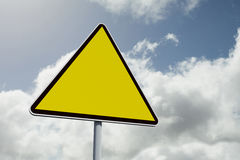 Composite image of hazard triangle Royalty Free Stock Images