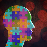 Composite image of head made of jigsaw pieces Stock Photography
