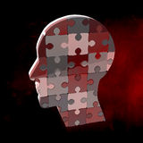 Composite image of head made of jigsaw pieces Royalty Free Stock Photos