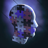 Composite image of head made of jigsaw pieces Stock Photo