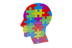 Composite image of head made of jigsaw pieces Royalty Free Stock Images