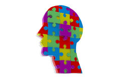 Composite image of head made of jigsaw pieces Royalty Free Stock Photography