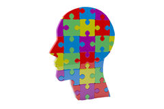 Composite image of head made of jigsaw pieces Royalty Free Stock Image