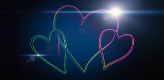 Composite image of heart Royalty Free Stock Image