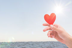 Composite image of heart Royalty Free Stock Photos