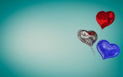 Composite image of heart balloons Stock Image