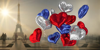 Composite image of heart balloons Royalty Free Stock Images