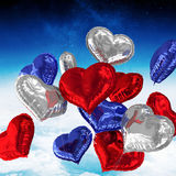 Composite image of heart balloons Royalty Free Stock Photography