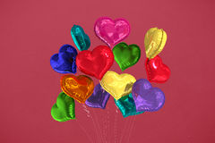 Composite image of heart balloons Stock Images