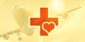 Composite image of heart and cross Stock Image