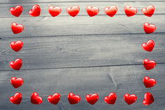 Composite image of heart frame Stock Photo