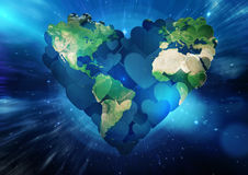 Composite image of heart shaped earth Royalty Free Stock Photo