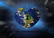 Composite image of heart shaped earth Stock Photography
