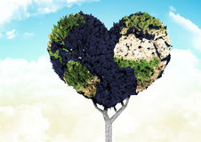 Composite image of heart shaped earth tree Royalty Free Stock Photography