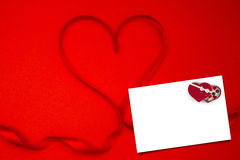 Composite image of heart shaped ribbon Stock Photography