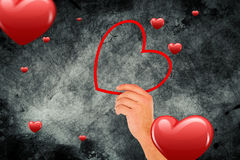 Composite image of heart shapes Royalty Free Stock Photo
