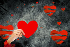 Composite image of heart shapes Stock Photo