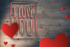 Composite image of hearts Royalty Free Stock Image